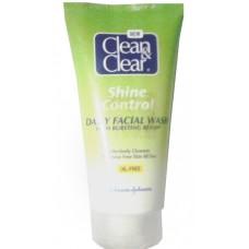clean&clear shine control daily facial wash 150 ml