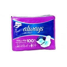 always clean & dry wings - 10 pads