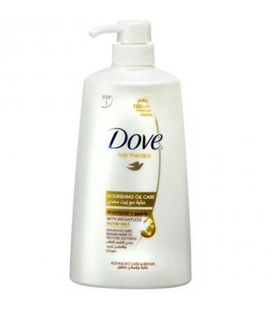 dove hair shampoo nourishing oil care 700 ml