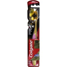 Colgate 360 Charcoal Gold Toothbrush Multi Color