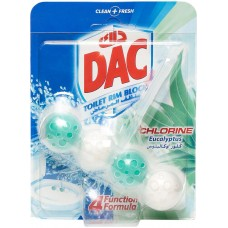 DAC Power Active Chlorine Eucalyptus Toilet Rim Block - 50 g