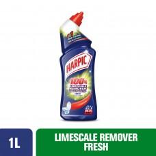 Harpic Liquid Toilet Cleaner - Limescale Remover Fresh, 1L